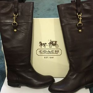 Coach leather riding boots